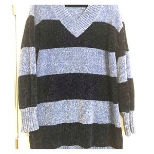Solutions! Sweaters - Solutions! Striped V-neck Sweater Dress